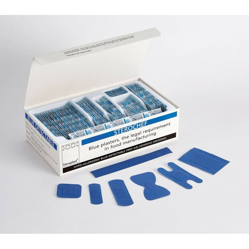 Sterochef Blue Detectable Plasters