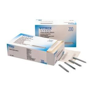 Vitrex Steel Sterile Blood Lancets - Pack of 200