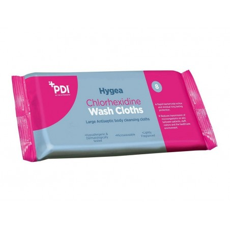 PDI Hygea Chlorhexidine Wash Cloths