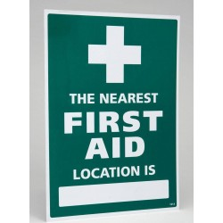 The Nearest First Aid Location Sign