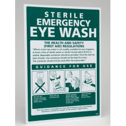 Eyewash Guidance Sign