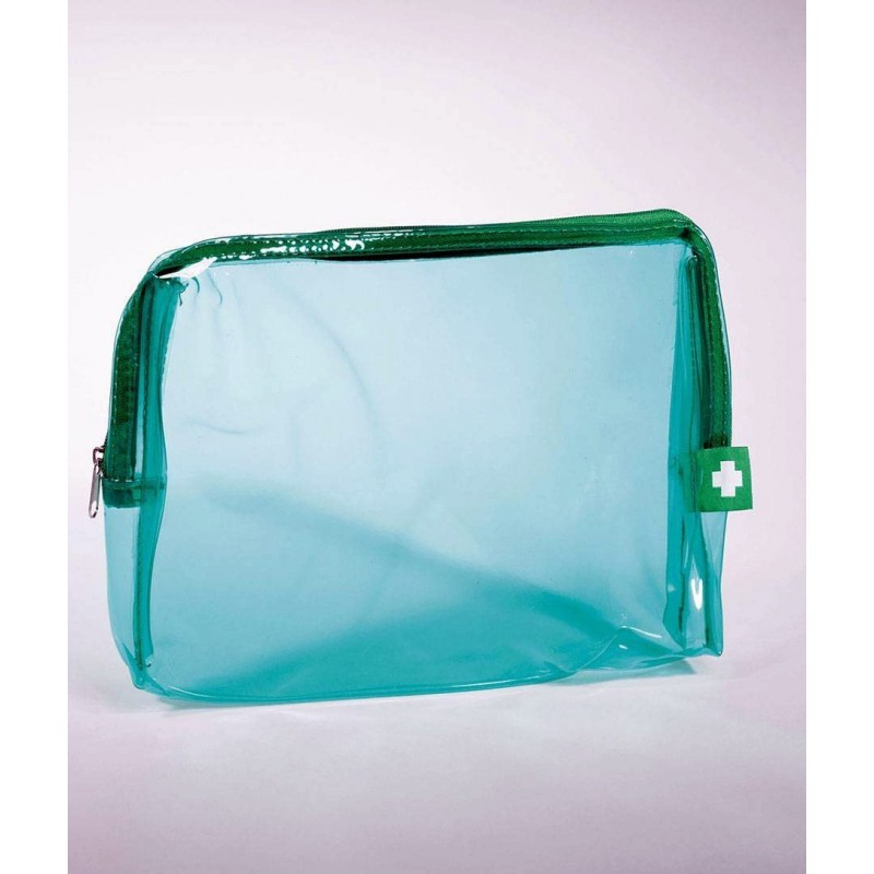 PVC Clear Green First Aid Bag